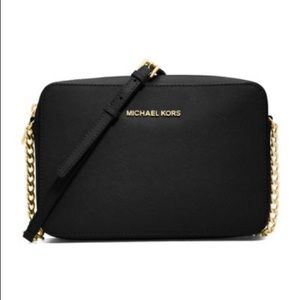 Micheal Kors Jet Set Crossbody Bag Purse Black